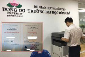Vụ văn bằng tiếng Anh của ĐH Đông Đô: Bộ Quốc phòng yêu cầu rà soát