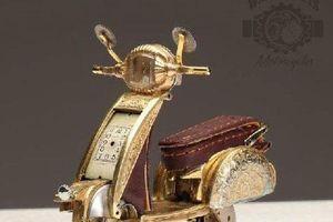 Loạt ôtô, xe máy đẹp mê hồn được chế lại từ đồng hồ cũ