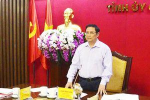 Đồng chí Phạm Minh Chính, Ủy viên Bộ Chính trị, Bí thư Trung ương Đảng, Trưởng Ban Tổ chức Trung ương làm việc tại tỉnh Quảng Ninh