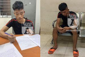 Cảnh sát Cơ động bắt giữ 2 thanh niên 'thủ' gần 700 viên ma túy
