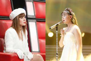 Lưu Thiên Hương khóc nức nở trên sân khấu 'The Voice Kids'