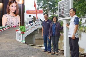 Diễm My 9x bỏ tiền xây cầu tặng quê nhà Đồng Tháp