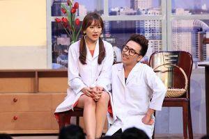 Trấn Thành diễn tiểu phẩm 'Yêu kín' tình cảm với Hari Won ở Ơn giời