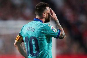 Messi giận dữ với đồng đội sau trận thua Granada