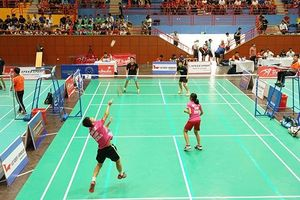 Gần 800 tay vợt dự Giải cầu lông học sinh - sinh viên TP Hà Nội mở rộng lần thứ VI