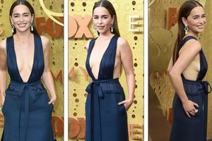 'Mẹ rồng' Emilia Clarke 'thả rông' tại Emmy, tái ngộ dàn sao Game of Thrones
