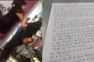 Xôn xao lá thư xin lỗi được cho là của chủ shop giày tát nữ sinh đến đòi lương