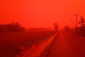 Cháy rừng, bầu trời Indonesia chuyển màu đỏ như máu