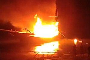 Nổ tàu cá trong đêm, 2 người tử vong, 5 người bị thương