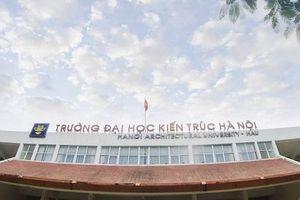 Thư cảm ơn nhân kỷ niệm 50 năm thành lập Trường Đại học Kiến trúc Hà Nội