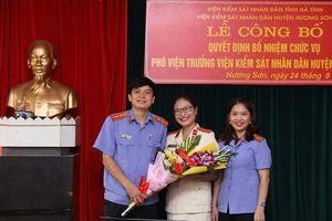 VKSND huyện Hương Sơn có nữ Phó Viện trưởng 8X