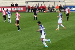Lần đầu đá chính, Đoàn Văn Hậu giúp đội Heerenveen giành 1 điểm trên sân Feyenoord