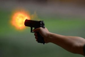 Nổ súng tranh chấp đất, một người bị thương