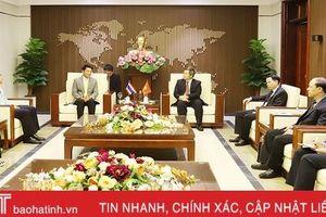 Tỉnh trưởng Nakhonphanom chào xã giao lãnh đạo Hà Tĩnh