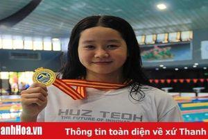 Các VĐV Thanh Hóa thi đấu xuất sắc tại giải bơi vô địch quốc gia 2019