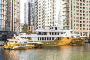 Lóa mắt siêu du thuyền bọc vàng lớn nhất thế giới, giá gần 500 tỷ đồng