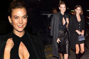 Siêu mẫu 1m88 Karlie Kloss diện váy hở ngực, đọ sắc con gái Cindy Crawford