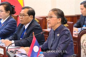 Chủ tịch Quốc hội Nguyễn Thị Kim Ngân hội đàm với Chủ tịch Quốc hội chdcnd Lào