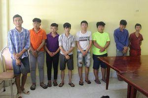 Bắt tám đối tượng gây rối trật tự công cộng tại Đồng Nai