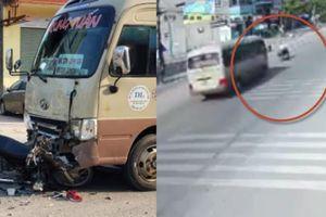 Clip xe khách lấn làn tránh gờ giảm tốc, tông 2 học sinh Thái Nguyên thương vong