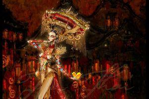 Miss Grand International: Lộ phác thảo bộ quốc phục của Kiều Loan
