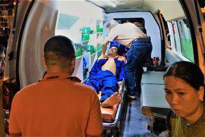 Kịp thời cứu nạn ngư dân Kiên Giang bị tai nạn lao động trên biển