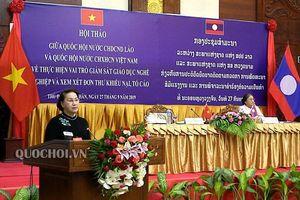 Phát biểu của Chủ tịch Quốc hội Nguyễn Thị Kim Ngân tại Hội thảo chuyên đề giữa hai Quốc hội việt nam - Lào