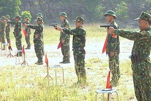 Quân đoàn 4: Bế mạc Hội thi Điều lệnh, bắn súng, thể lực sĩ quan
