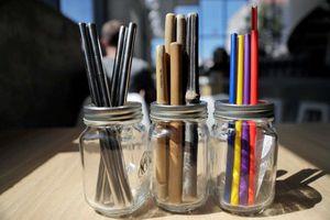 Ống hút nhựa được thay bằng cỏ, mì ống, ống giấy tại Mỹ