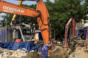 Dawaco thực hiện thành công công trình khoan kéo ống qua sông Hàn