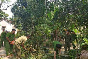 VKSND và Công an Hương Sơn giúp dân làm nông thôn mới