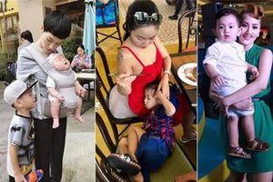 Những mỹ nhân Việt trước ống kính xinh đẹp bao nhiêu thì ở bên đàn con lại 'đậm chất bỉm sữa' và xuề xòa bấy nhiêu