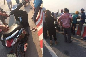 Người phụ nữ để lại xe máy cùng đôi dép trên cầu Thái Hà rồi nhảy xuống sông tự tử