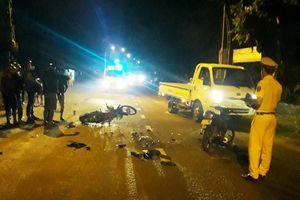 Hai xe máy đối đầu khiến cụ ông tử vong