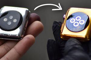 Cách biến Apple Watch bản thép thành vàng 24K