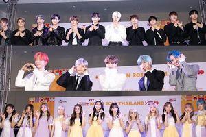X1, AB6IX, IZONE và Chungha rạng rỡ trên thảm đỏ 'KCON Thailand 2019' ngày 2