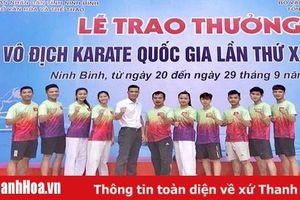 Thanh Hóa giành 1 HCV, 3 HCB, 1 HCĐ tại giải vô địch karate quốc gia 2019