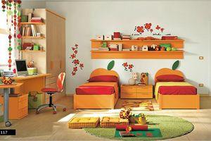 Thiết kế phòng của trẻ kết hợp màu trắng với màu sắc sặc sỡ