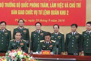 Bộ trưởng Quốc phòng Ngô Xuân Lịch làm việc với Quân khu 2