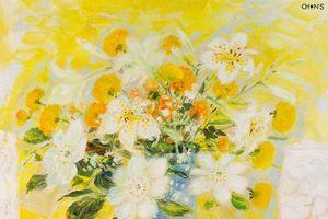 Tác phẩm 'Đời hoa' của danh họa Lê Phổ được đấu giá trên 800 triệu đồng