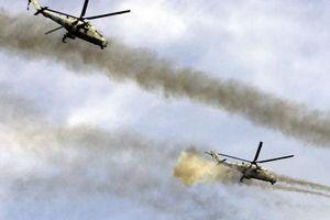 Trực thăng vũ trang Nga bất ngờ tấn công dữ dội phiến quân tại Latakia