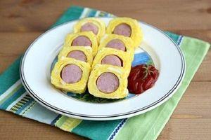 Trứng cuộn xúc xích phô mai bổ dưỡng dành cho bé yêu