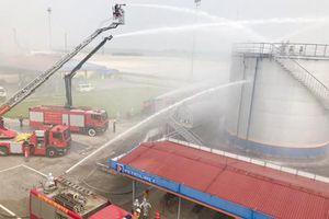 Diễn tập phương án phòng cháy chữa cháy và cứu hộ cứu nạn tại Công ty cổ phần nhiên liệu Petrolimex
