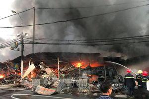 Thanh Hóa: Cháy chợ Còng, hàng trăm gian hàng bị thiêu rụi