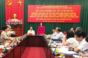 Nghiệm thu cấp cơ sở Đề tài 08 thuộc Chương trình nghiên cứu khoa học trọng điểm của Hà Nội