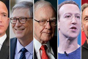 Tài sản 5 người giàu nhất nước Mỹ bằng 2% GDP
