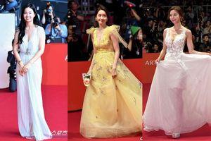Thảm đỏ 'LHP Busan 2019': Yoona (SNSD) hóa nữ thần, áp đảo Hoa hậu Hàn Quốc 2019 - Kim Sae Yeon