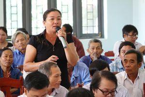 Chánh án TANDTC Nguyễn Hòa Bình tiếp xúc cử tri tại Quảng Ngãi