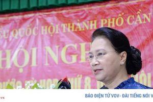 Chủ tịch Quốc hội tiếp xúc cử tri tại quận Ninh Kiều, TP Cần Thơ