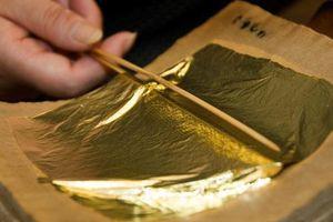 Nghệ thuật làm vàng lá mỏng như giấy của người Nhật